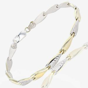 9ct Gold And Silver Bonded Stampato Bracelet