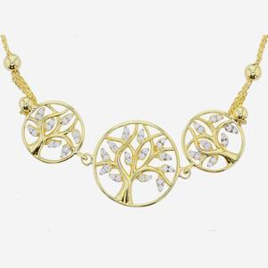 9ct Gold And Silver Bonded Life's Tree Bracelet