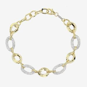 9ct Gold & Silver Bonded Bracelets Made With Crystals From Swarovski®