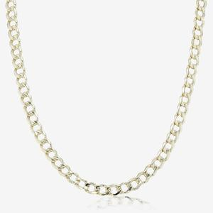 "9ct Gold & Silver Bonded Curb 18"" Curb Chain"