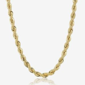 9ct Gold And Silver Bonded Rope Chain Necklace
