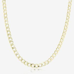 9ct Gold & Silver Bonded 20 inch Curb Link Chain