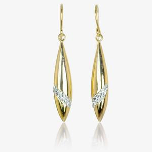 Lupina 9ct Gold & Silver Bonded Earrings Made With Swarovski<sup>&reg;</sup> Crystals