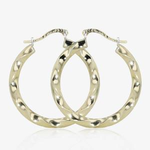 Loretta 9ct Gold & Silver Bonded Creole Earrings