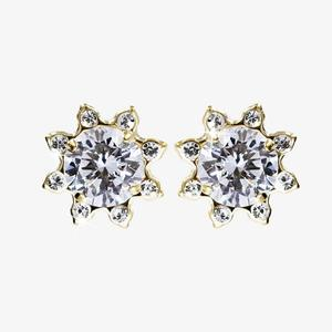 9ct Gold And Silver Bonded Star Earrings