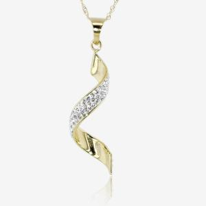 9ct Gold & Silver Bonded Necklace Made With Swarovski® Crystals