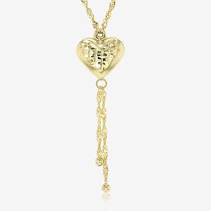 9ct Gold & Silver Bonded Heart Necklace