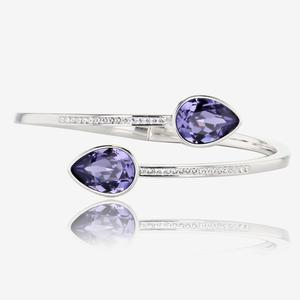 Violetta Bangle Made With Swarovski® Crystals