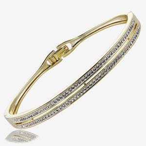 Fortuna Bangle Made With Swarovski® Crystals
