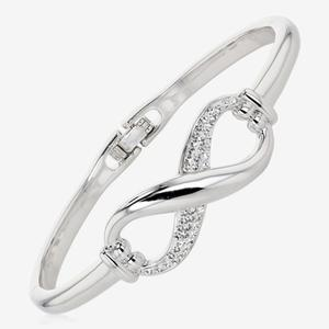 Infinity Bangle Made With Swarovski® Crystals