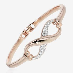 Rose Infinity Bangle Made With Swarovski® Crystals
