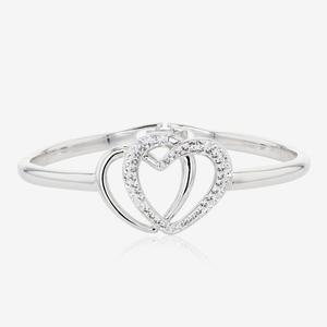 The Petra Heart Bangle Made With Swarovski® Crystals