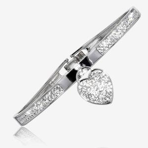 Crystals From Swarovski® Padlock Bangle
