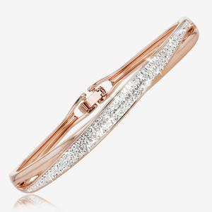 Rose Lucille Designer Bangle Made With Swarovski<sup>&reg;</sup> Crystals