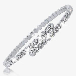 Ladies Crystals From Swarovski<sup>®</sup> Flexi Bangle