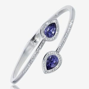 Violetta Tanzanite Coloured Bangle Made With Swarovski® Crystals