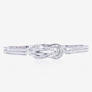 Knot Bangle Made With Crystals From Swarovski®
