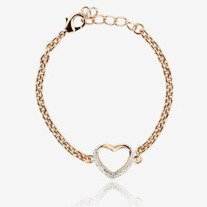 Petra Rose Heart Bracelet Made With Swarovski<sup>&reg;</sup> Crystals