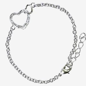 Double Heart Bracelet Made With Swarovski<sup>&reg;</sup> Crystals