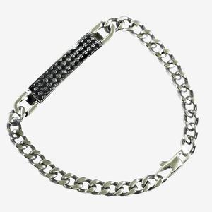 Men's I.D. Bracelet Made With Swarovski Crystals<sup>&reg;</sup>