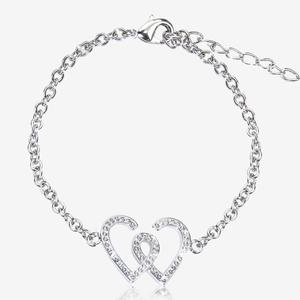 Entwined Heart Bracelet Made With Swarovski<sup>®</sup> Crystals