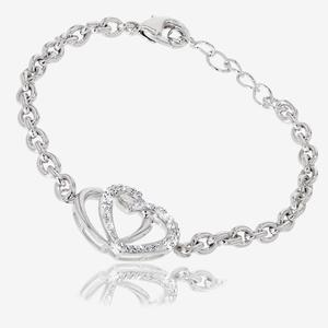 The Petra Heart Bracelet Made With Swarovski<sup>®</sup> Crystals