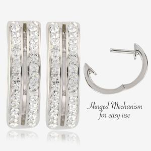 Fortuna Huggie Earrings Made With Swarovski® Crystals