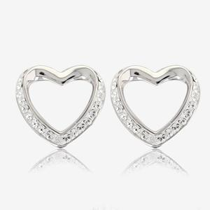 Swarovski® Crystals Heart Earrings