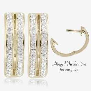 Fortuna Gold Finish Huggie Earrings Made With Swarovski<sup>®</sup> Crystals
