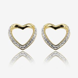 Petra Heart Earrings Made With Swarovski® Crystals