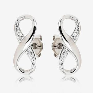 Infinity Earrings Made With Swarovski<sup>&reg;</sup> Crystals