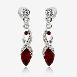 Biarritz Deep Red Earrings Made With Swarovski® Crystals