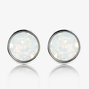 Loretta Earrings With Swarovski® Crystal White Opals