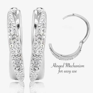 Lucille Huggie Earrings Made With Swarovski<sup>®</sup> Crystals