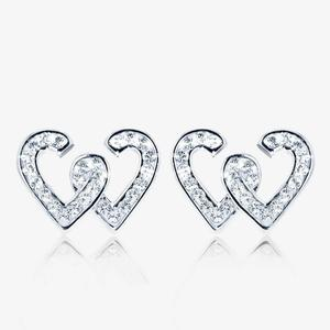 Entwined Heart Earrings Made With Swarovski<sup>&reg;</sup> Crystals