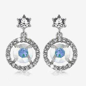 Aurora Halo Earrings Made With Swarovski® Crystals
