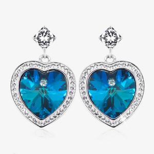 Sabrina Heart Earrings Made With Swarovski® Crystals
