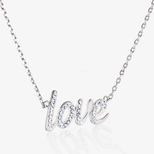 Love Necklace Made With Swarovski<sup>&reg;</sup> Crystals