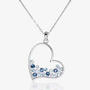 Stephania Heart Necklace Made With Swarovski<sup>&reg;</sup> Crystals