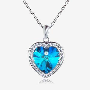Swarovski® Crystals Blue Heart Necklace