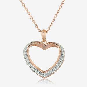 Petra Rose Heart Necklace Made With Swarovski<sup>&reg;</sup> Crystals