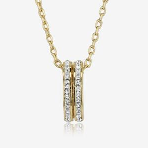 Fortuna Gold Finish Necklace Made With Swarovski<sup>®</sup> Crystals