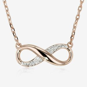 Infinity Necklace Made With Swarovski® Crystals