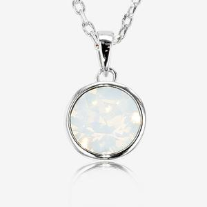 necklace classic crystal pendant htm swarovski jewelry solitaire rhodium necklaces and