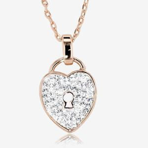 Padlock Necklace Made With Swarovski® Crystals