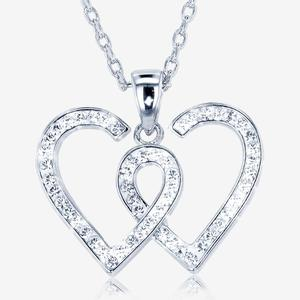 Entwined Heart Necklace Made With Swarovski<sup>®</sup> Crystals