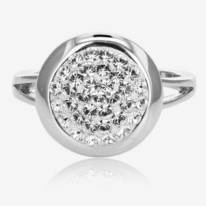 Stephanie Disc Ring Made With Swarovski® Crystals