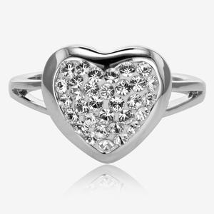 Tania Heart Ring Made With Swarovski® Crystals