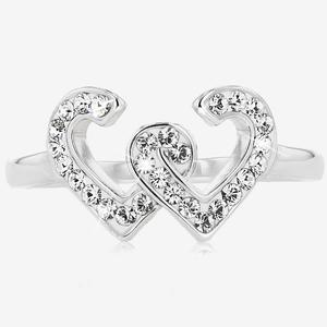 Entwined Heart Ring Made With Swarovski<sup>&reg;</sup> Crystals