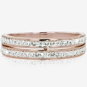 964abd503a1 SALE Rose Fortuna Band Ring Made With Swarovski<sup>®</sup> Crystals